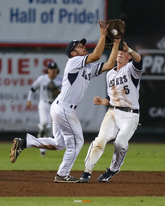 Action from the 4A Quarterfinals between Urbandale and Roosevelt at Principal Park on July 27, 2016 in Des Moines, Iowa.