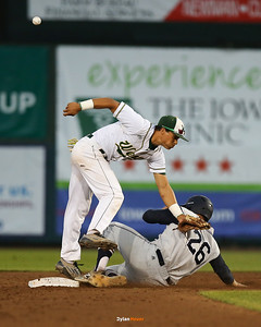 Action from the 4A Semifinals between Roosevelt and Iowa City West at Principal Park on July 29, 2016 in Des Moines, Iowa.