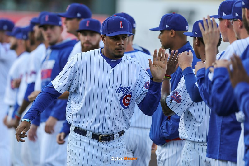 The Iowa Cubs take on the New Orleans Baby Cakes at Principal Park on Saturday, April 8th, 2017 in Des Moines, Iowa.