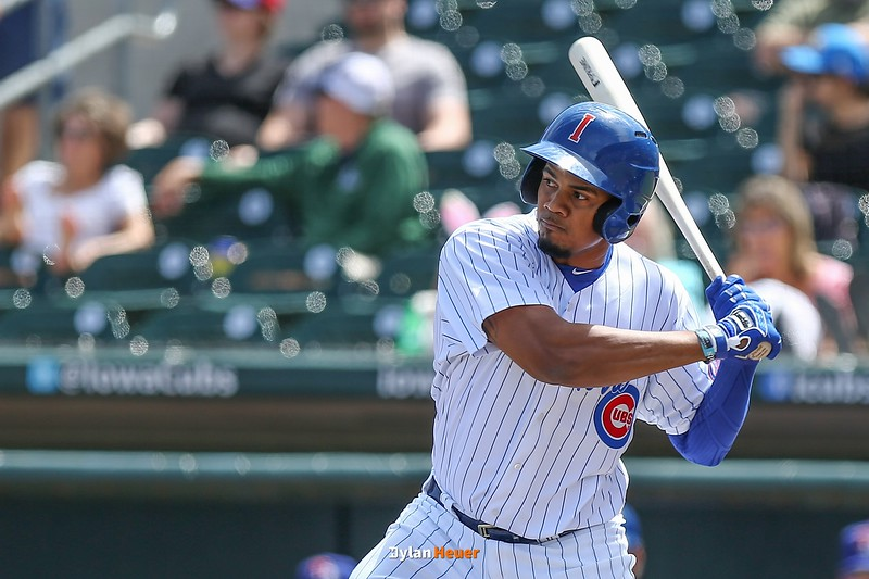 The Iowa Cubs take on the Round Rock Express at Principal Park on Sunday, April 16th, 2017 in Des Moines, Iowa.