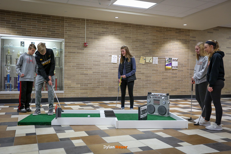 Golf in the Halls in Valley High School