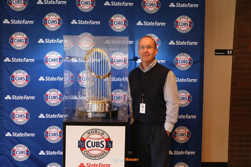 The 2016 Chicago Cubs World Series Trophy presentation at Principal Park on Wednesday, Feb. 1st, 2017.