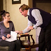 The production of Oleanna in action at Tallgrass Theater on Thursday, Jan. 26th, 2017.