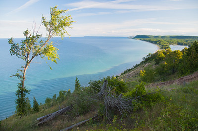 Lake Michigan and Sleeping Bear Dunes / Empire, Michigan