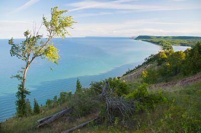 Lake Michigan and Sleeping Bear Dunes / Empire, Michigan