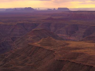 Looking into Monument Valley / Cedar Mesa, Utah