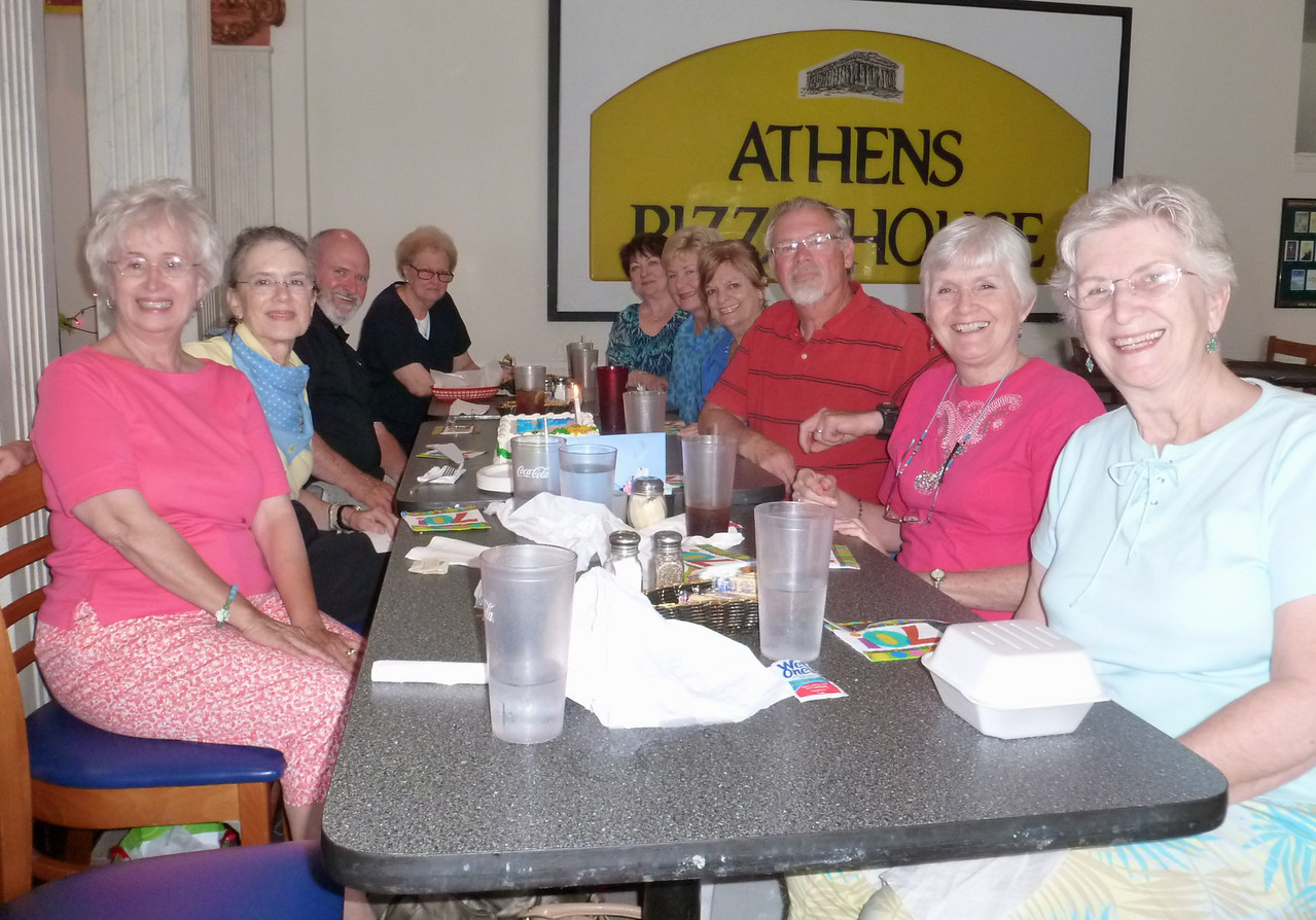 Dale Mobley Miller, Lee McFall, Cade Stapleton, Nancy Shealy, Sheila Coulter Roberts, Babs Stapleton, Susan Hamilton Sellman, Jack Graves, Anita Hansell Dorin and Beth Crouch Benefield