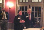 Lucia Howard Sizemore thanking the reunion committee<br /> <br /> Saturday night at the Mary Gay House