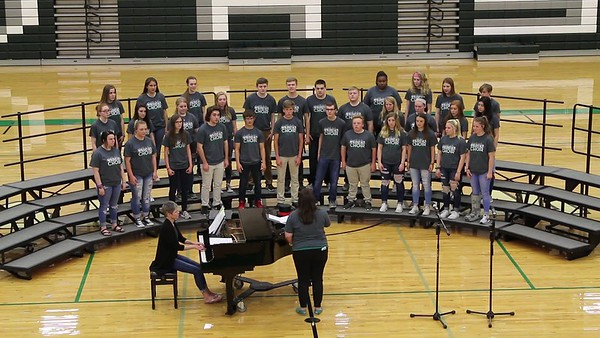 20180502-3 DHS Wildcat Chorale-Waving Through a Window
