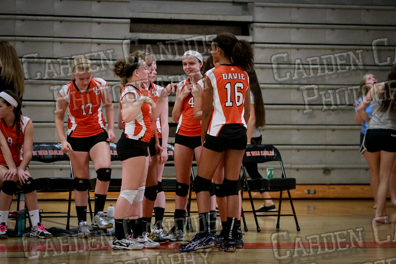 JV Volleyball Davie vs NW Guilford-2