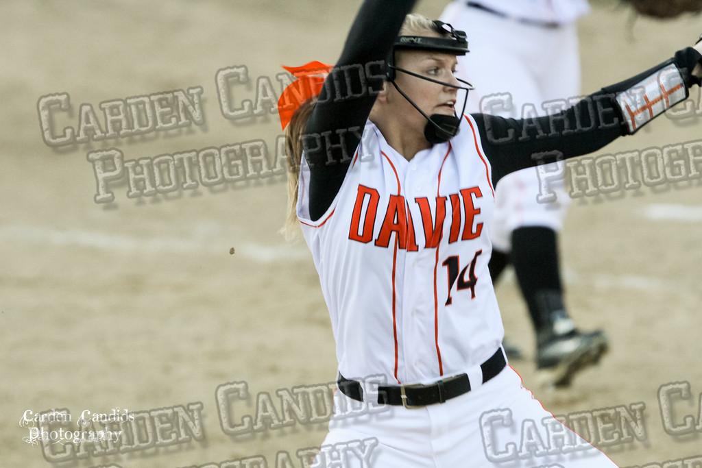 DAVIE VARSITY Ladies Softball vs W Rowan 3-30-15-044