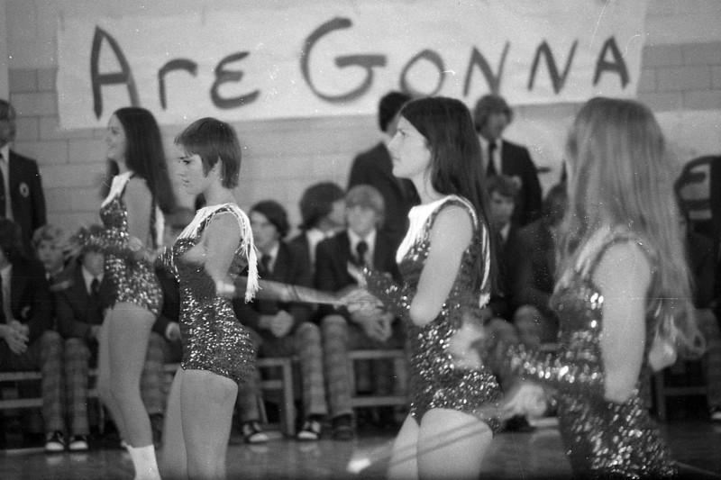 This was taken in 1972, I think... (L-R) Lisa May, Sherri Dyer, Vicki Hunsucker and Sherri Ledford.  (Forgive my spelling) -Steve