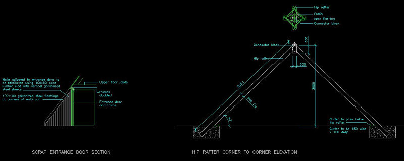 Pyramid Home Hip Rafter Elevation