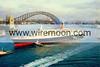 QE2 sailing into Sydney Harbour 1985.