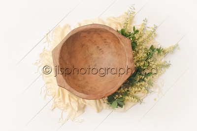 11 - WOOD BOWL - LIGHT YELLOW
