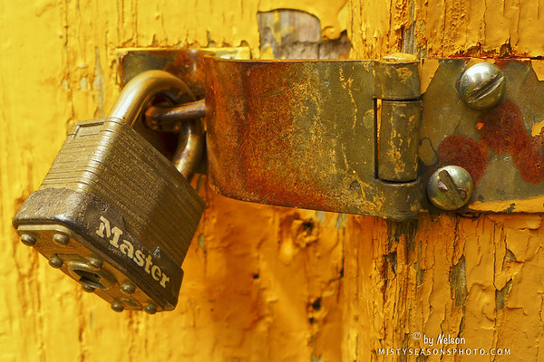 Lock , Latch and Yellow