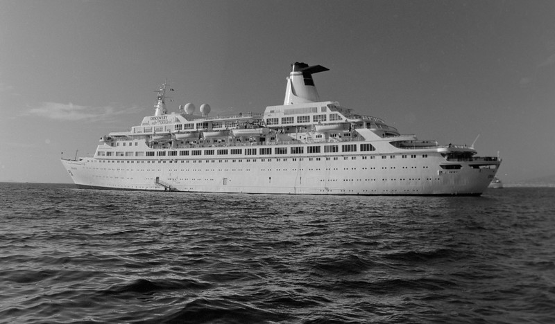 MV DISCOVERY ANCHORED AT NAPLES