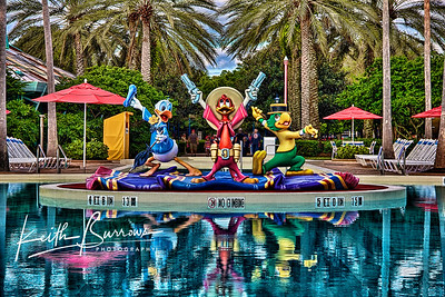 Characters at the Pool, All Star Music Resort