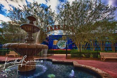 Fountain at the Jazz Inn, Disney's All Star Music Resort