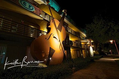 Violin & Banjo at Night, All Star Music Resort
