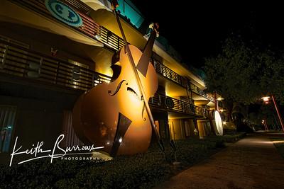 Violin & Banjo at Night, All Star Music Resort