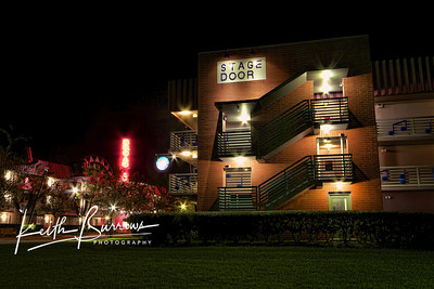 Broadway Stage Door at Night, All Star Music Resort
