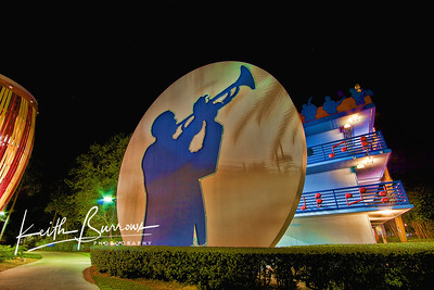 Trumpet Player at Night, All Star Music Resort
