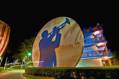 Trumpet Player at Night, All Star Music Resort