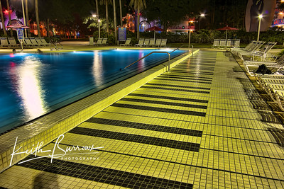 The Piano Pool at Night, All Star Music Resort