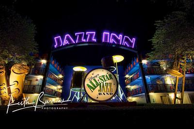 Jazz Inn at Night, All Star Music Resort