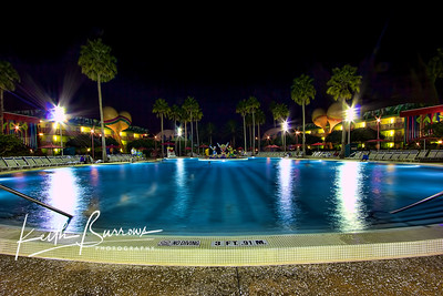 The Pool at Night, All Star Music Resort