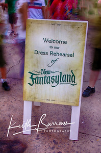 The New Fantasyland Dress Rehearsal