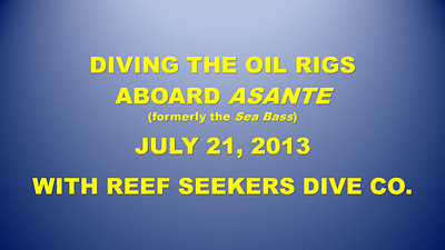 Diving the Oil Rigs title slide