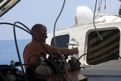 Tim filling the tanks.