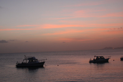 This was the worst week of sunsets at Buddy Dive that I've ever witnessed.  On the other hand, we were able to see two - count them, two - 'green flashes' on back-to-back sunsets.