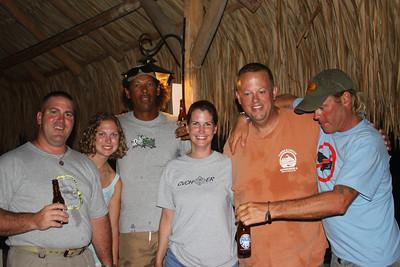 Scott, Janet, D?????? (local divemaster), Dr. Elizabeth, Johnny O, and Scott (local divemaster).