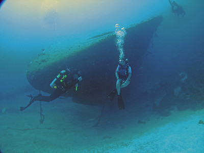 The Hilma Hooker from the bow