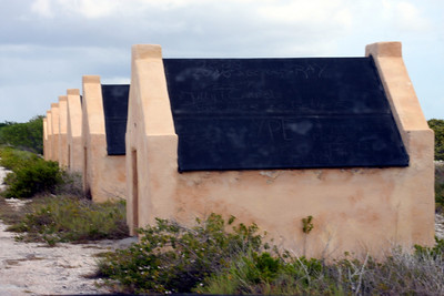 Slave housing at Red Slave dive site.