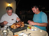 Let me guess . . . these guys are NOT vegetarians.  Tom and Daniel loadin' up on the protein.