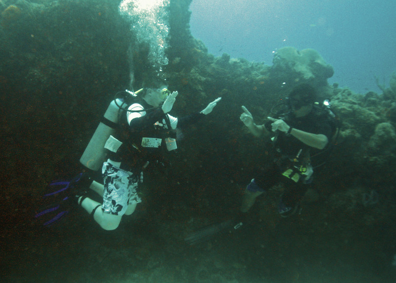 Brandon mastering the art of buoyancy