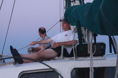 Darin and John relaxing up-top.