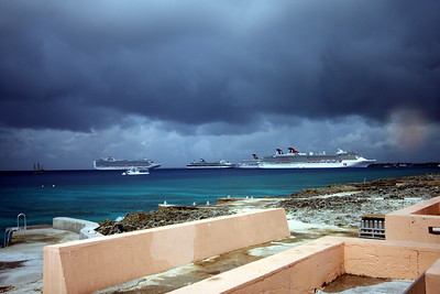 And the cruise ships roll in.  Five on one day.