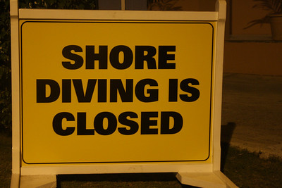 Unfortunately we saw this sign way too much.  Missed about half-a-dozen dives due to angry seas on our side of the island.