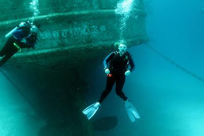 BJ and Darcy at the Kittiwake wreck