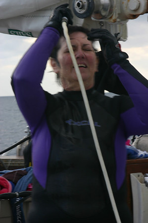 That warm water sure felt good, especially inside the wetsuit.