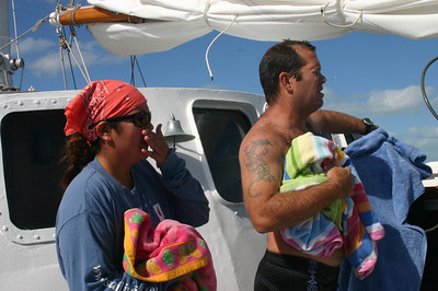 Alika and Greg - Mr. and Mrs.  He's the Divemaster, she's the marine naturalist.