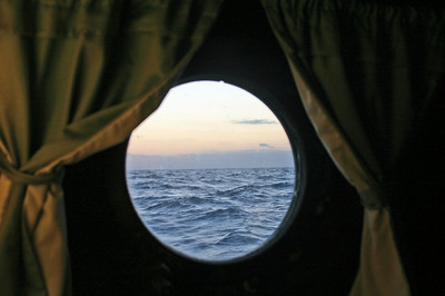 Out our cabin port hole.