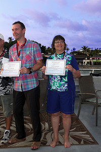 Miss Barbara is awarded the Aggressor 'Iron Diver' Certification