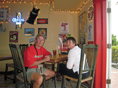Christmas Dinner at Jimmy's Dive Bar - Providenciales, Turks and Caicos - 2007