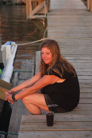Cheryl . . . sitting on the dock of the bay.  Lettin' time just slip away.